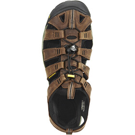Keen Clearwater CNX Leather Sandals Herren dark earth/black